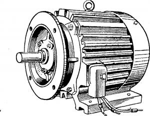 Трехфазный асинхронный короткозамкнутый двигатель