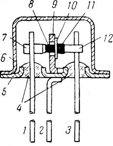 Устройство плоскостного германиевого транзистора