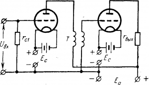 Двухкаскадный усилитель на трансформаторах
