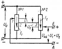 Схема сложения на пряжений при помощи потенциометров