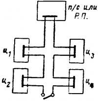Радиальная схема распределения электроэнергия по цехам