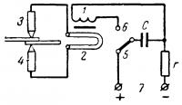 Схема работы конденсаторной точечной сварочной машины