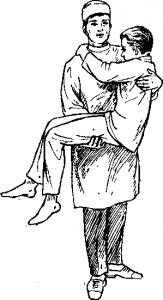 Переноска больного одним санитаром