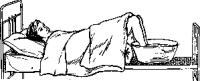 Мытье ног в постели