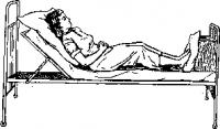 Полу сидячее положение больного в постели