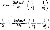 Теория Бора для водорода