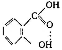 Водородная связь в салициловой кислоте